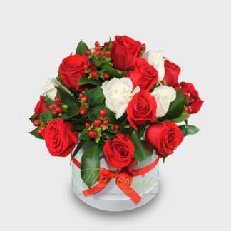 Flores de condolencia en caja
