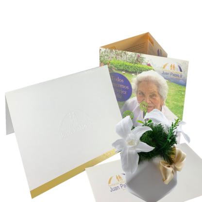 Bono Fundación Juan Pablo II Oro + Orquídea Preservada 1